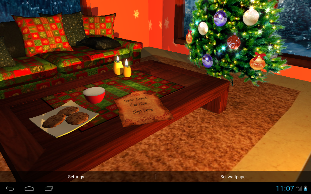 3D Christmas Fireplace HD Full Screenshot 6