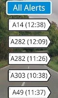 Screenshot of UK Traffic Alerts