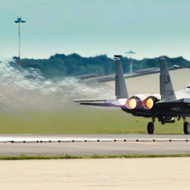 lakenheath f15 by Samantha Bearman - Transportation Airplanes ( army, airplanes, aeroplane, airbase, f15, take off, lakenheath, fighter )