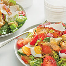 Panzanella with Tomatoes and Crispy Prosciutto