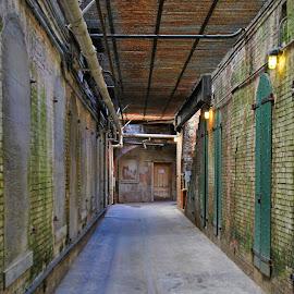 Hallway by Tina Cantarinha - Travel Locations Landmarks ( alcatraz )