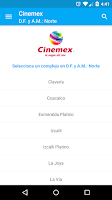 Screenshot of Cine Mapp (Carteleras)