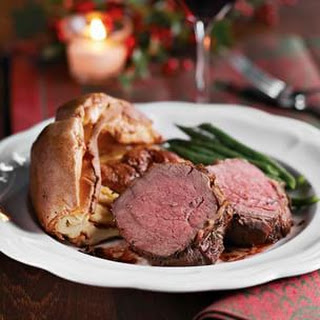 Strip Loin Roast with Yorkshire Pudding