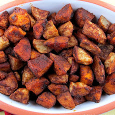 Cinnamon Chile Roasted Sweet Potatoes