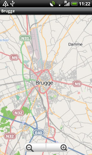 Brugge Street Map