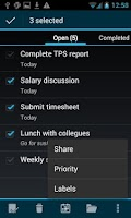 Screenshot of BHive Google Tasks
