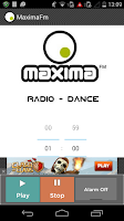 Screenshot of Maxima FM Radio