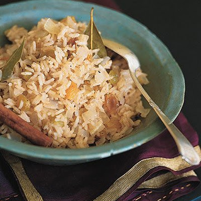 Cinnamon Basmati Rice with Golden Raisins
