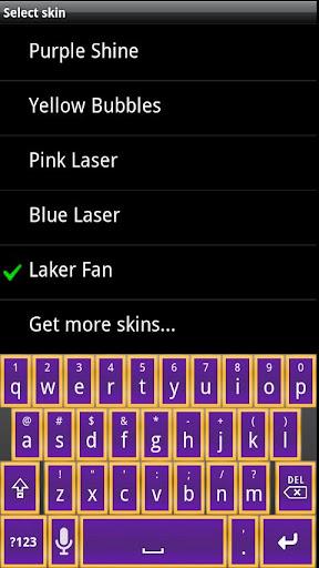 LA Basketball HD Keyboard Skin