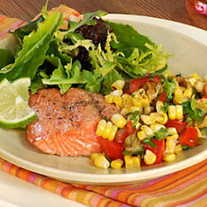 Grilled Salmon with Roasted Corn Relish