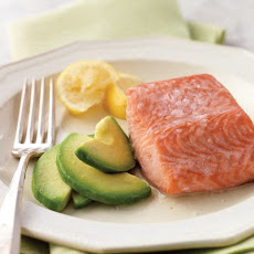 Steamed Salmon with Avocado