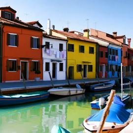Burano - Venice by Dominic Jacob - City,  Street & Park  Historic Districts ( colorful, colors, burano, italie, colorfull, canal, island, venezia, italia, color, venice, venise, italy,  )