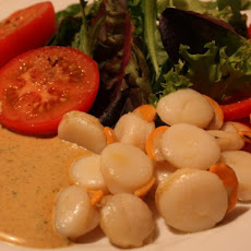 Scallops With Curry Chive Mayonnaise