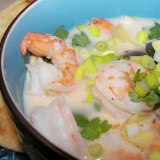 Spicy Coconut Chicken or Seafood Soup
