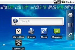 Screenshot of Stock Ticker Lite