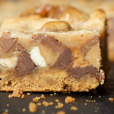Peanut Butter Candy Bar Squares
