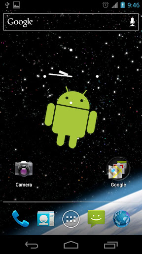 Droid in Space Live Wallpaper