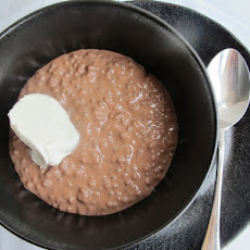 Creamy Chocolate Tapioca Pudding