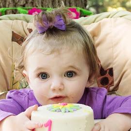 First Birthday by Roberta Lott - Babies & Children Child Portraits ( birthday, babies, children, number one )