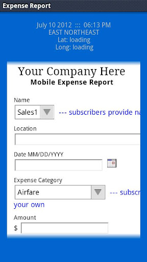 LAS Expense Report