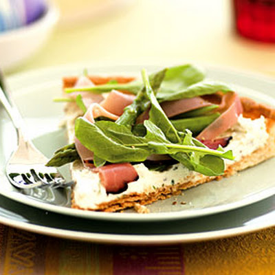Mascarpone, Ham, and Asparagus Tart