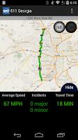 Screenshot of 511 Georgia & Atlanta Traffic