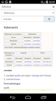 Screenshot of Swedish Dictionary Free