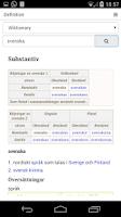 Screenshot of Swedish Dictionary Free