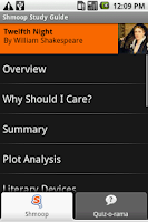 Screenshot of Twelfth Night: Shmoop Guide