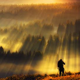 Light Hunter by Pawel Uchorczak - Landscapes Mountains & Hills ( best, beskidy, light, top, poland )