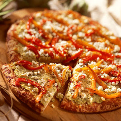 Artichoke-and-Red Pepper Pizza