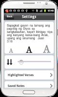 Screenshot of Tagalog Bible -Ang Biblia