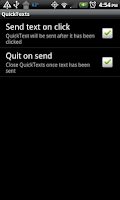 Screenshot of QuickTexts
