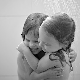 shower cuddle by Lucia STA - Babies & Children Children Candids