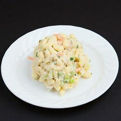 Grandma Bellows' Lemony Shrimp Macaroni Salad with Herbs