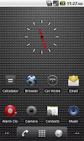 Screenshot of Transparent Clock