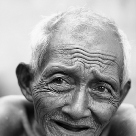 Pessimistic by Angguh Gubawa - People Portraits of Men ( bw, human interest, people, portrait, man )