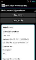Screenshot of Invitation Processor Free