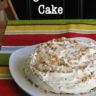 Coconut Mango Cake with Coconut Buttercream