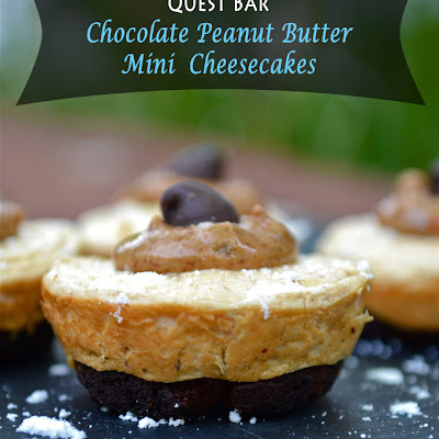 {QuestBar} Mini Chocolate Peanut Butter Cheesecakes