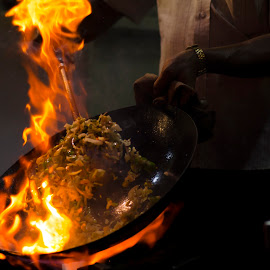 Noodles on fire by Aditya Bugadi - Food & Drink Cooking & Baking