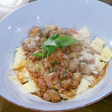 Pappardelle with Sweet and Hot Sausage Ragu