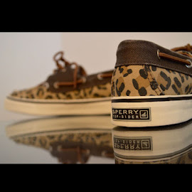 Cheetah reflection by Rachel Mariano - Artistic Objects Clothing & Accessories ( shoes, cheetah, fashion, sperry, preppy )