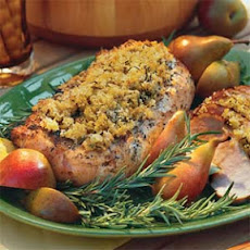 Grilled Pork Loin With Rosemary-Breadcrumb Crust