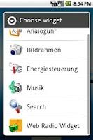 Screenshot of Web Radio Widget
