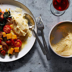 Soft Polenta With Braised Pumpkin And Cavolo Nero