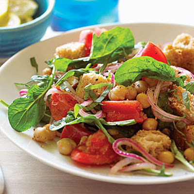 Chickpea Panzanella with Capers