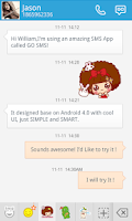 Screenshot of GO SMS PRO MOCMOC STICKER