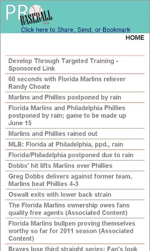 Florida Pro Baseball News