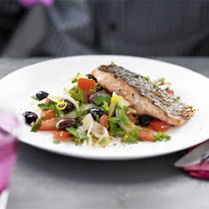 Charred Salmon With Fennel & Olive Salad